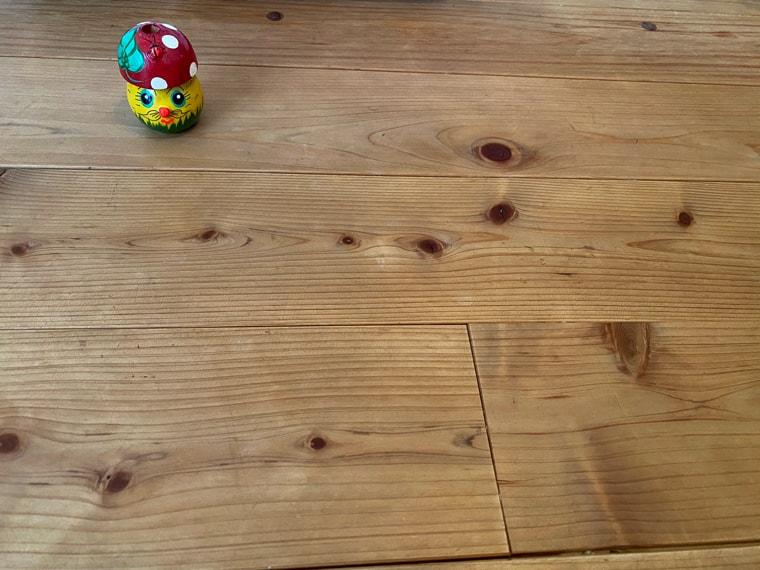 セスキスプレー後の床