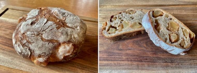 リンゴとそば粉のパン